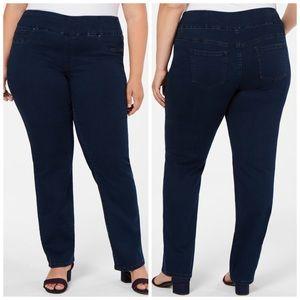 22W 28W Charter Club Pull On Straight Leg Jeans